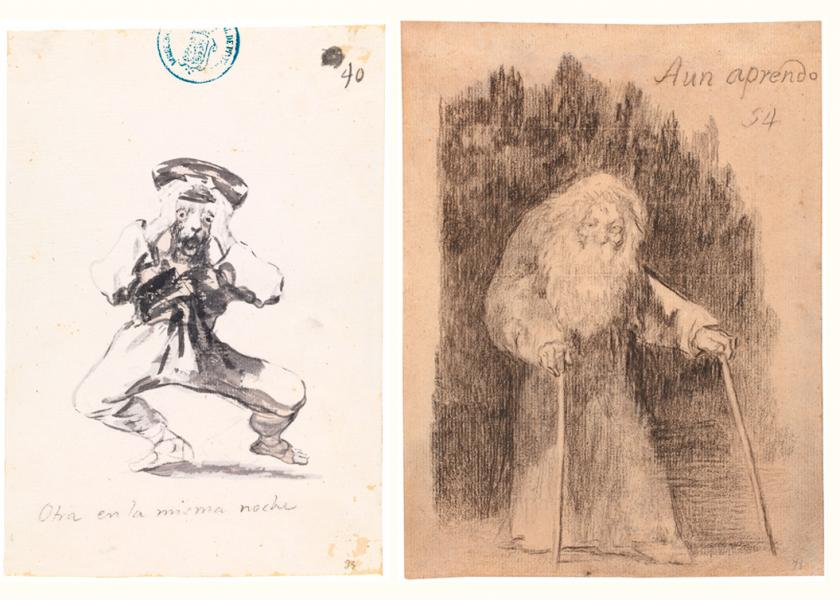 Three engravings of the exhibition 'Solo la voluntad me sobra'