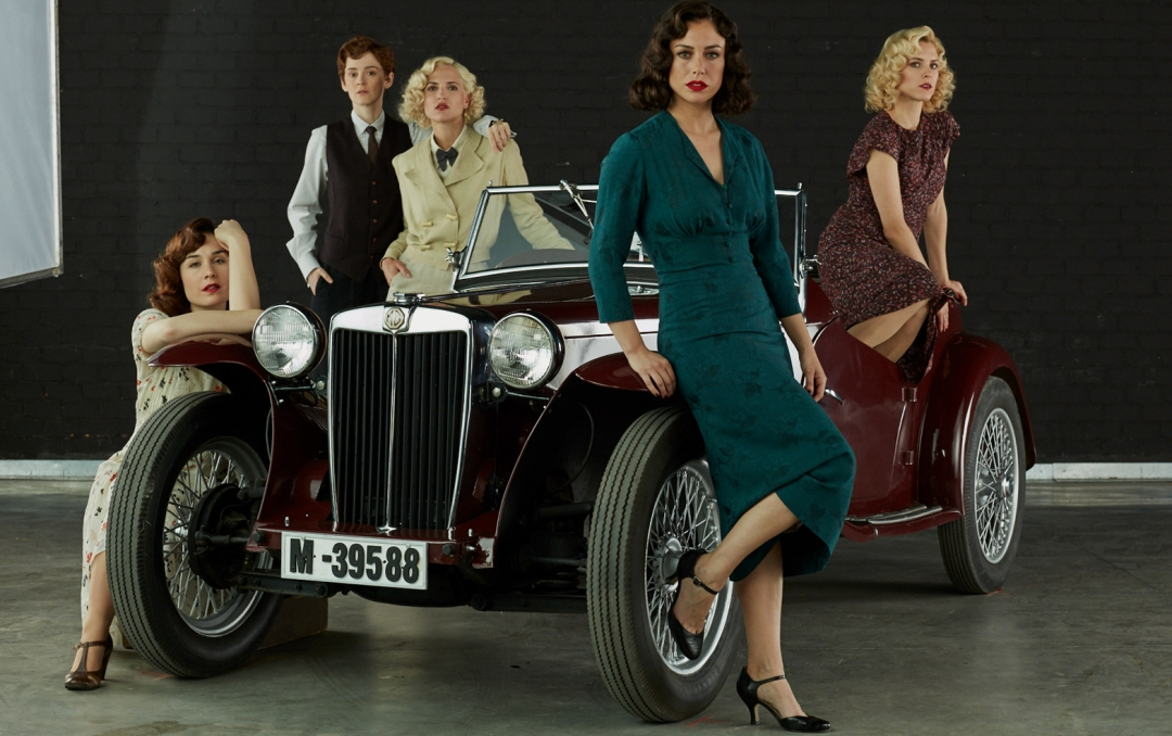 Photography of the main characters of 'Cable Girls'